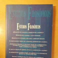 Libros de segunda mano: REVISTA ESTUDIOS FILOSÓFICOS Nº 156 (AÑO 2005, MAYO - AGOSTO). Lote 145767674