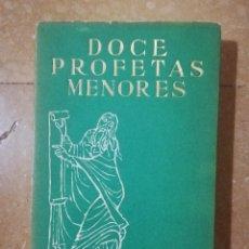 Libros de segunda mano: DOCE PROFETAS MENORES (LUIS ALONSO SCHÖKEL) EDICIONES CRISTIANDAD. Lote 145831994