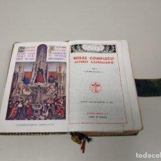 Libros de segunda mano: J10- MISAL COMPLETO LATINO VICENTE MOLINA VALENCIA AÑO 1958 1937 PAG + INDICE 9 X 15 CMS. Lote 145991650