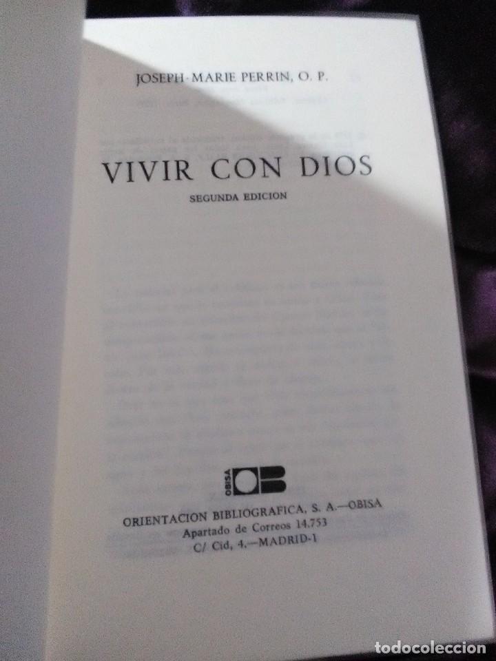 Libros de segunda mano: Vivir con Dios. Perrin. Obisa. 1979. 2 Ed. - Foto 3 - 146045042