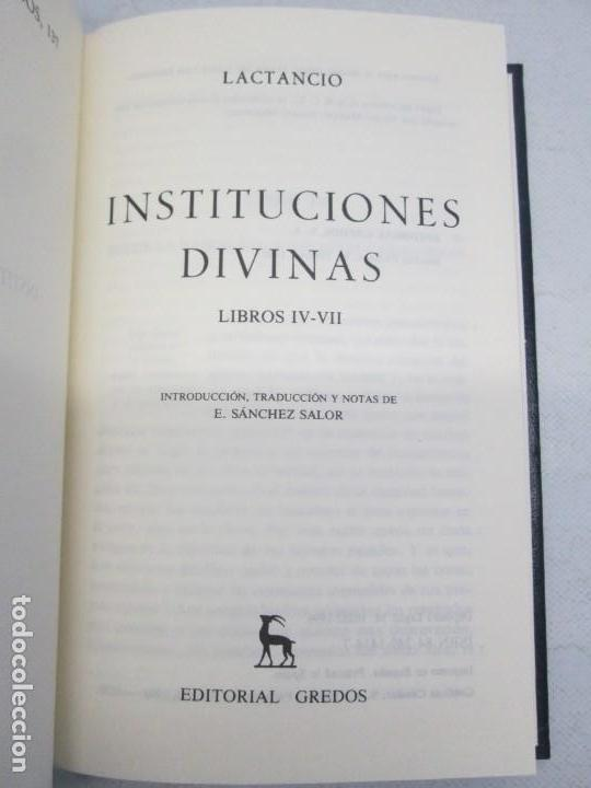 Libros de segunda mano: INSTITUCIONES DIVINAS. LIBROS IV-VII. LACTANCIO. BIBLIOTECA CLASICA GREDOS. 1990. VER FOTOGRAFIAS - Foto 7 - 146916842