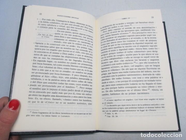 Libros de segunda mano: INSTITUCIONES DIVINAS. LIBROS IV-VII. LACTANCIO. BIBLIOTECA CLASICA GREDOS. 1990. VER FOTOGRAFIAS - Foto 9 - 146916842