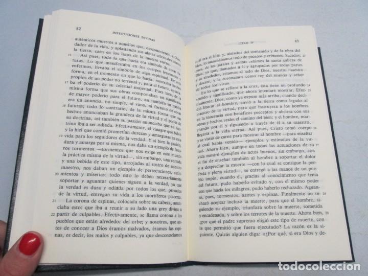 Libros de segunda mano: INSTITUCIONES DIVINAS. LIBROS IV-VII. LACTANCIO. BIBLIOTECA CLASICA GREDOS. 1990. VER FOTOGRAFIAS - Foto 10 - 146916842