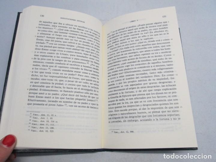 Libros de segunda mano: INSTITUCIONES DIVINAS. LIBROS IV-VII. LACTANCIO. BIBLIOTECA CLASICA GREDOS. 1990. VER FOTOGRAFIAS - Foto 11 - 146916842