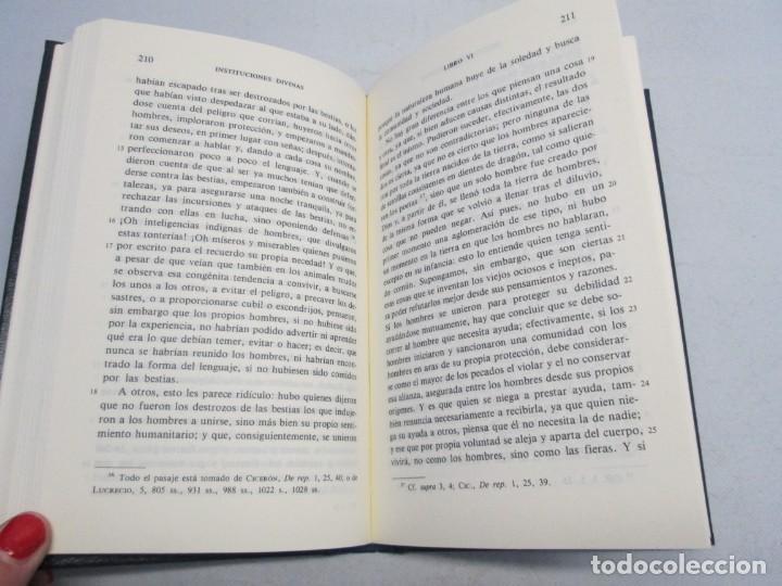 Libros de segunda mano: INSTITUCIONES DIVINAS. LIBROS IV-VII. LACTANCIO. BIBLIOTECA CLASICA GREDOS. 1990. VER FOTOGRAFIAS - Foto 12 - 146916842