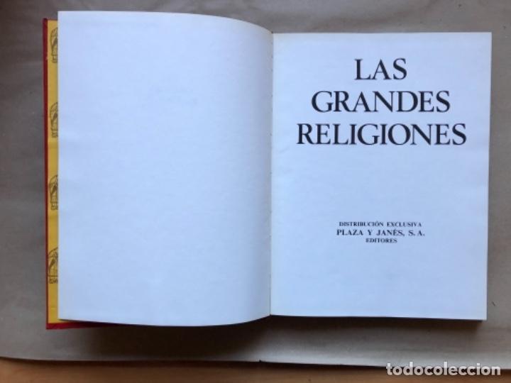 Libros de segunda mano: LAS GRANDES RELIGIONES (8 TOMOS, COMPLETA). PLAZA & JANÉS EDITORES 1965. - Foto 4 - 147030434