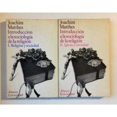 Libros de segunda mano: INTRODUCCIÓN A LA SOCIOLOGÍA: IGLESIA Y SOCIEDAD (2 TOMOS). Lote 147284112