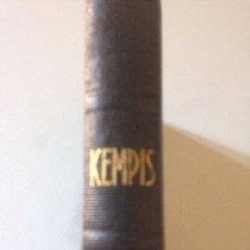 Libros de segunda mano: 1941.- KEMPIS. IMITACION DE CRISTO. Lote 147404688