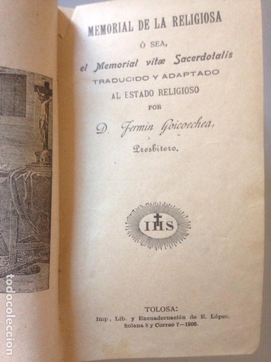 Libros de segunda mano: MEMORIAL DE LA RELIGIOSIDAD 1906 - Foto 3 - 147606921
