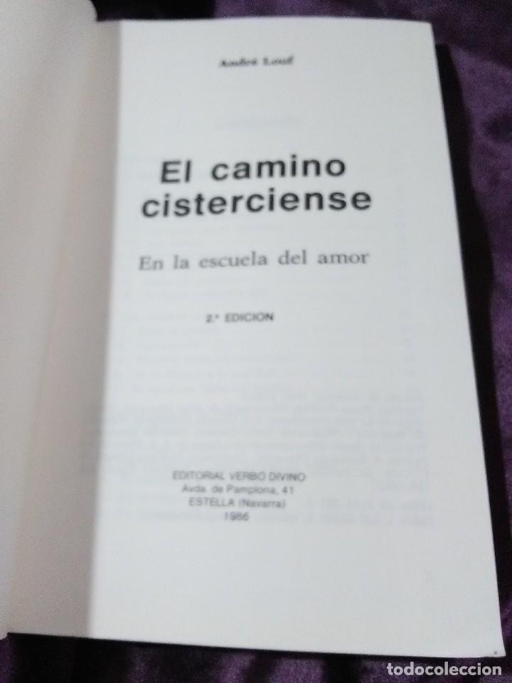 Libros de segunda mano: El camino cisterciense. A. Louf. Verbo Divino. 1986. 2 Ed. - Foto 3 - 147634566