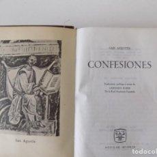 Libros de segunda mano: LIBRERIA GHOTICA. BELLA EDICIÓN AGUILAR DE LAS CONFESIONES DE SAN AGUSTÍN. 1964. PAPEL BIBLIA.. Lote 148016402