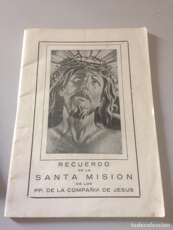 RECUERDO DE LA SANTA MISIÓN DE LOS PP. DE LA COMPAÑÍA DE JESUS (Libros de Segunda Mano - Religión)