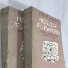 Libros de segunda mano: PREDICACION DEL EVANGELIO GIOVANNI COLOMBO,2 VOLUMENES.1955 RÚSTICA ORIGINAL. Lote 148294614
