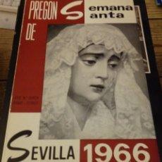 Libros de segunda mano: PREGÓN DE SEMANA SANTA SEVILLA 1966. JOSÉ MARÍA GARCÍA BRAVO. Lote 148524206