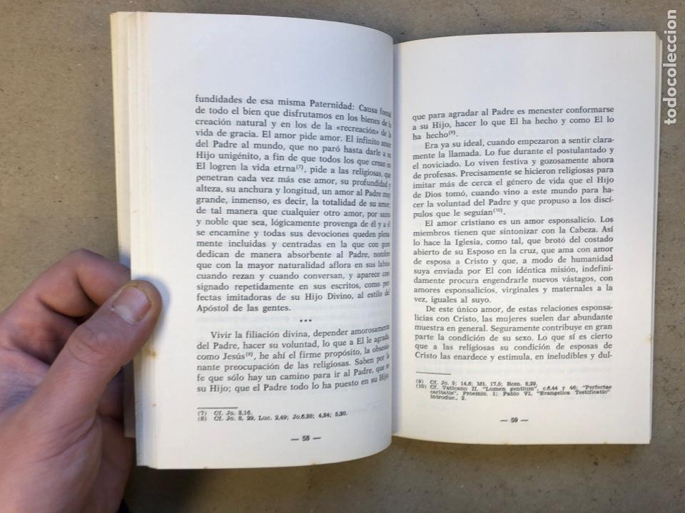 Libros de segunda mano: RELIGIOSAS SIEMPRE. JAIME ROVIRA. EDITORIAL CLA 1976 (1ªEDICIÓN). - Foto 4 - 149207824