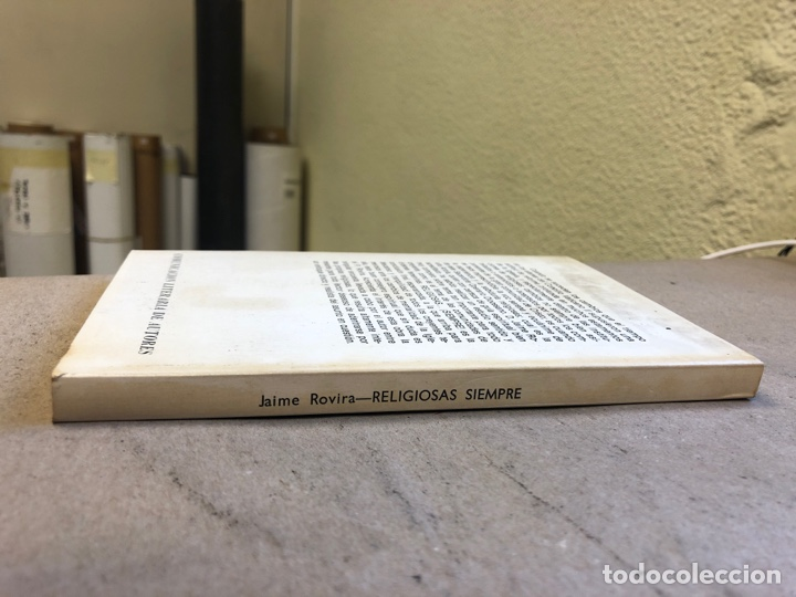 Libros de segunda mano: RELIGIOSAS SIEMPRE. JAIME ROVIRA. EDITORIAL CLA 1976 (1ªEDICIÓN). - Foto 7 - 149207824