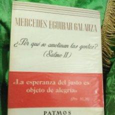 Libros de segunda mano: ¿POR QUÉ SE AMOTINAN LAS GENTES?. M. EGUIBAR. PATMOS, Nº 142. 3 ED. 1973.. Lote 178665745