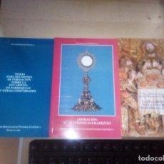 Libros de segunda mano: 4 LIBROS SOBRE LA EUCARISTIA Y LA ADORACION AL SANTISIMO SACRAMENTO. Lote 149637290