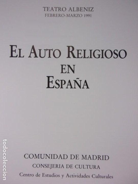 Libros de segunda mano: EL AUTO RELIGIOSO EN ESPAÑA / 1991. Teatro Albeniz - Foto 2 - 149927038