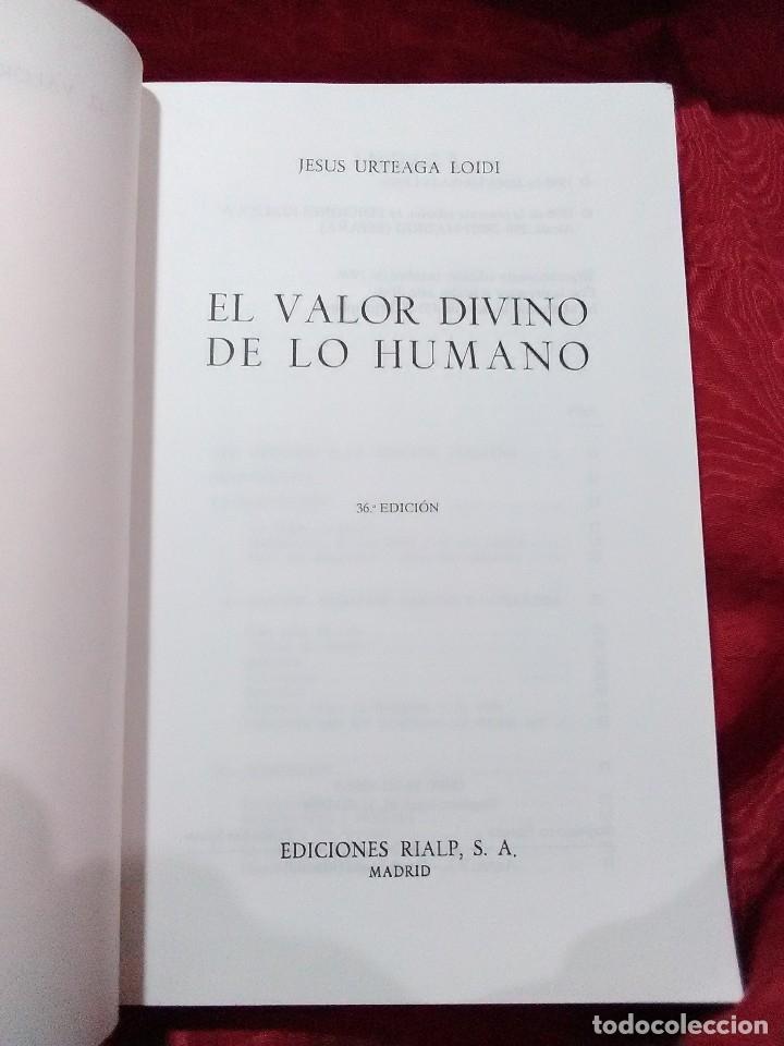Libros de segunda mano: El valor divino de lo humano. J. Urteaga. Patmos. 1996. 36 ed. - Foto 2 - 150166038