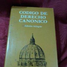 Libros de segunda mano: CÓDIGO DE DERECHO CANÓNICO. EDICIÓN BILINGÜE. BAC MINOR, N 66. 1987. 14 ED.. Lote 150169438