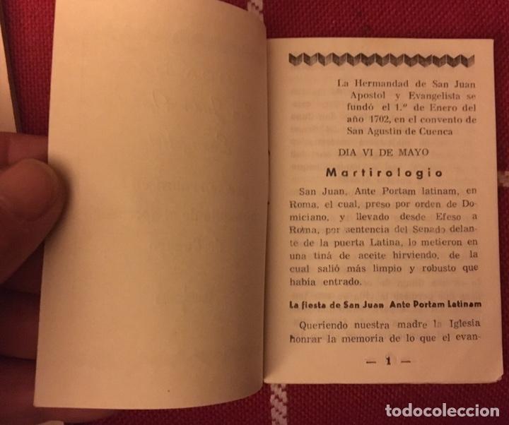Libros de segunda mano: Vida de san Juan apóstol evangelista 1974 Cuenca - Foto 3 - 150307928