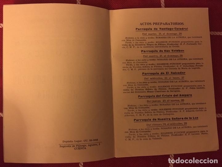 Libros de segunda mano: Cuenca 1958 programa - Foto 3 - 150309157
