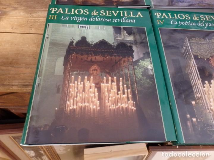 Libros de segunda mano: PALIOS DE SEVILLA (Completo). Gran obra ilustrada sobre los palios de la Semana Santa de Sevilla - Foto 4 - 150944262