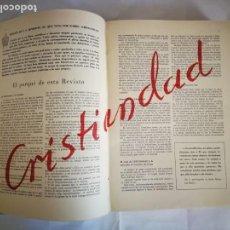 Libros de segunda mano: REVISTA CRISTIANDAD, AÑO COMPLETO, BARCELONA 1944. Lote 151109734