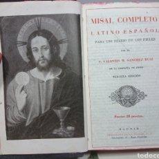 Libros de segunda mano: MISAL COMPLETO LATINO-ESPAÑOL, VALENTÍN M. SÁNCHEZ RUIZ, 1943. Lote 151143765