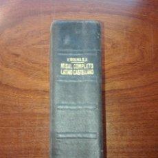 Libros de segunda mano: 1.-MISAL COMPLETO PARA LOS FIELES(VICENTE MOLINA) HISPANIA.1958.. Lote 151990677