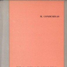 Libros de segunda mano: CONDEMINAS : ELS EXORCISMES I JACINT VERDAGUER (1970) DEDICATORIA MANUSCRITA DEL AUTOR. Lote 152552510