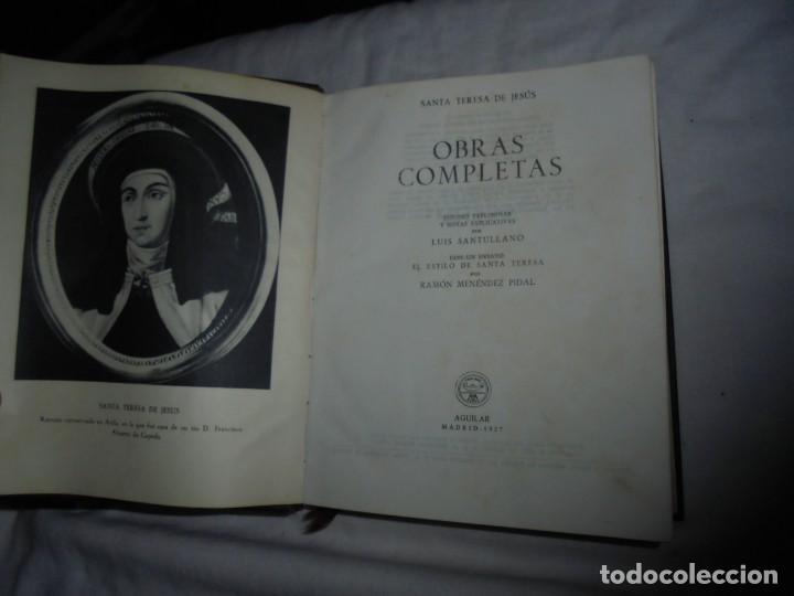 Libros de segunda mano: SANTA TERESA DE JESUS.OBRAS COMPLETAS.MADRID AGUILAR 1957 - Foto 4 - 152761278