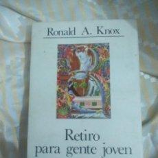 Libros de segunda mano: RETIRO PARA GENTE JOVEN. KNOX. CUADERNOS PALABRA, Nº 74. 1981. 1ª ED.. Lote 152902510