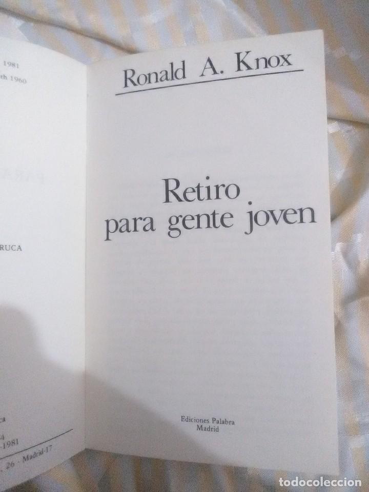 Libros de segunda mano: Retiro para gente joven. Knox. Cuadernos Palabra, nº 74. 1981. 1ª ed. - Foto 2 - 152902510
