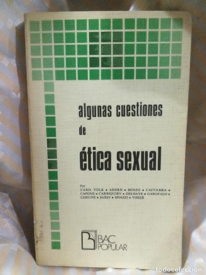 ALGUNAS CUESTIONES DE ÉTICA SEXUAL. VARIOS. BAC POPULAR, N 1. 1976. (Libros de Segunda Mano - Religión)