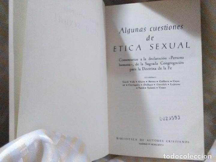 Libros de segunda mano: Algunas cuestiones de ética sexual. Varios. BAC popular, n 1. 1976. - Foto 2 - 153895810