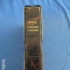Libros de segunda mano: MISAL PARA DOMINGOS Y FIESTAS POR EDELVIVES - 1960. Lote 154035134