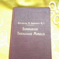 Libros de segunda mano: (EN LATÍN) SUMMARIUM THEOLOGIAE MORALIS. ARREGUI. MENSAJERO, 1930. 11 ED.. Lote 154395730