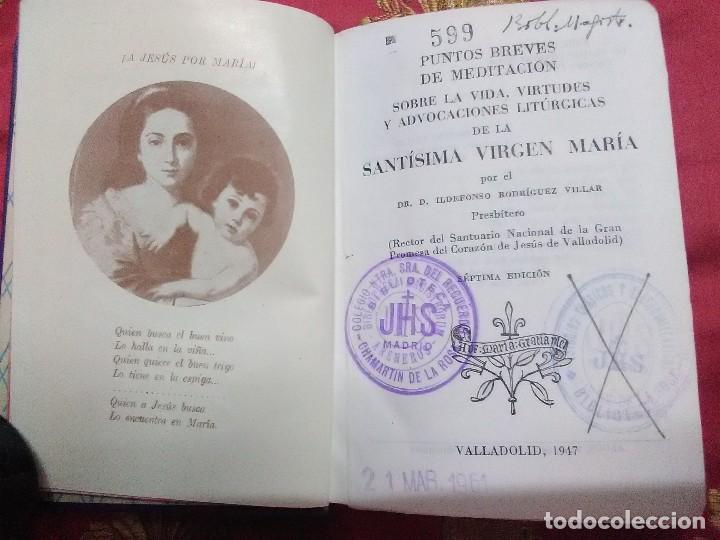 Libros de segunda mano: Meditaciones sobre la Santísima Virgen María. Rz. Villar. 1947. 7 Ed. - Foto 2 - 154429462