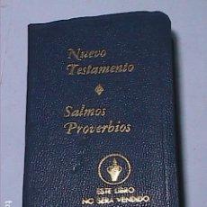 Libros de segunda mano: IGLESIA EVANGÉLICA. LOS GEDEONES. NUEVO TESTAMENTO - SALMOS Y PROVERBIOS.. Lote 154433734