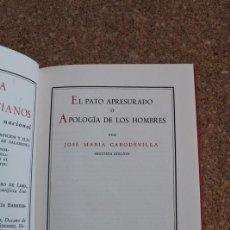 Libros de segunda mano: EL PATO APRESURADO O APOLOGÍA DE LOS HOMBRES. CABODEVILLA (JOSÉ MARÍA) . Lote 154764130