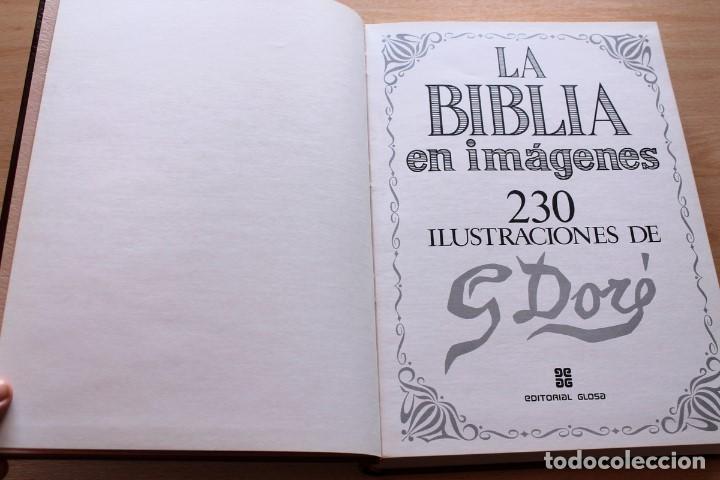 Libros de segunda mano: La Bíblia en imágenes de Gustavo Doré. 230 ilustraciones. GRAN FORMATO - Foto 4 - 155611550
