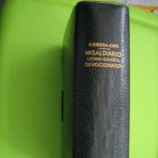 Livres d'occasion: ANTIGUO MISAL LATINO-ESPAÑOL. DEVOSIONARIO. MISAL DIARIO 1952. Lote 158312910