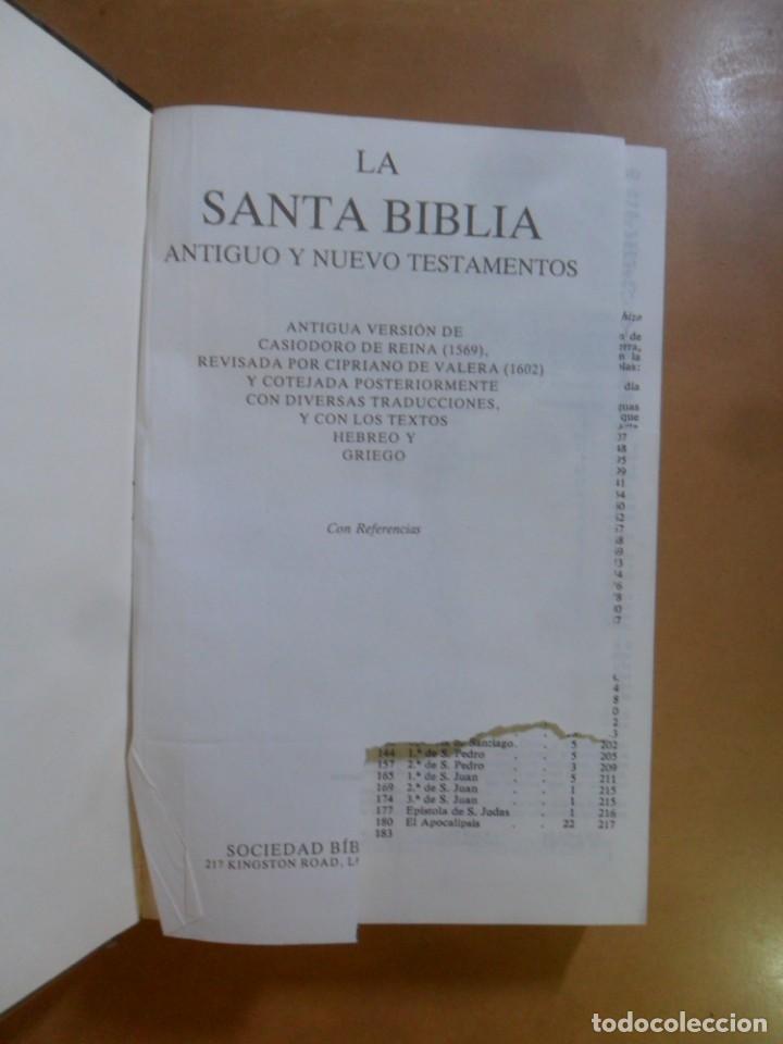 Libros de segunda mano: SANTA BIBLIA - SOCIEDAD BIBLICA - FORMATO GRANDE ** VER FOTOS - Foto 4 - 156588938