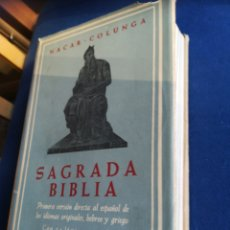 Libros de segunda mano: SAGRADA BIBLIA NACAR - COLUNGA CON LÁMINAS EN COLOR. TAPA DURA CON SOBRECUBIERTA. Lote 157728821