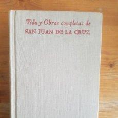 Libros de segunda mano: VIDA Y OBRAS COMPLETAS DE SAN JUAN DE LA CRUZ. BAC 1964 1112PP. Lote 157795718