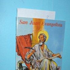 Libros de segunda mano: VIDA DE SAN JUAN EVANGELISTA. MARTÍN SÁNCHEZ, BENJAMÍN. ED. APOSTOLADO MARIANO. MADRID 2007. Lote 158506302