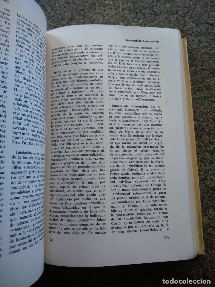 Libros de segunda mano: DICCIONARIO TEOLOGICO -- BIBLIOTECA HERDER 1970 -- - Foto 3 - 158711486