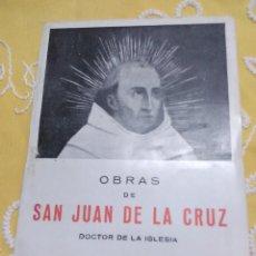 Libros de segunda mano: OBRAS DE SAN JUAN DE LA CRUZ, DOCTOR DE LA IGLESIA. MIÑÓN. . Lote 158990418